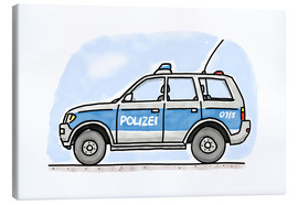 Canvas  Hugos German police car - Hugos Illustrations