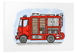 Foam board print  Hugos fire department emergency vehicle - Hugos Illustrations