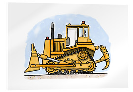 Acrylic glass  Hugos bulldozer - Hugos Illustrations