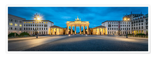 Premium poster The Brandenburg Gate at night, Berlin, Germany