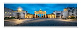 Premium poster  The Brandenburg Gate at night, Berlin, Germany - Jan Christopher Becke