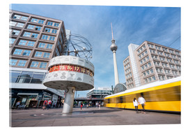 Acrylic print  World clock and TV tower at Alexanderplatz in Berlin - Jan Christopher Becke