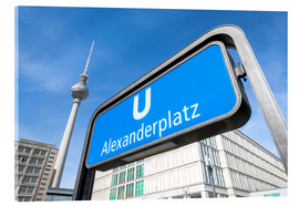 Acrylic print  TV tower at Alexanderplatz in Berlin - Jan Christopher Becke