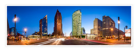 Premium poster Potsdamer Platz Panorama at night, Berlin, Germany