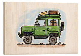 Wood  Hugos jeep - Hugos Illustrations
