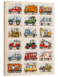 Wood  All my cars - Hugos Illustrations