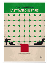 Premium poster No941 My Last Tango in Paris minimal movie poster