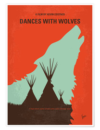 Premium poster No949 My Dances with Wolves minimal movie poster
