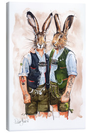 Canvas  GAY RABBITS - Peter Guest