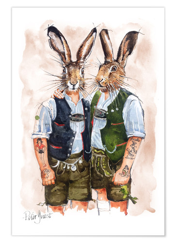 Premium poster Gay Rabbits