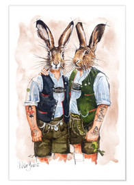 Premium poster  Gay Rabbits - Peter Guest