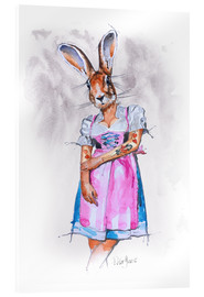 Acrylic print  SHE BUNNY - Peter Guest