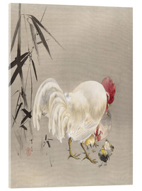 Watanabe Seitei - Rooster and Hen with Chicks