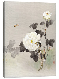 Canvas  Young Bird And A Butterfly - Watanabe Seitei