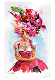 Acrylic print  Flowers in hair - Peter Guest