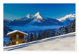 Premium poster Winter wonderland at Mount Watzmann