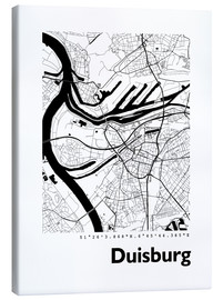 Canvas  City map of Duisburg - 44spaces