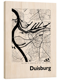 Wood  City map of Duisburg - 44spaces