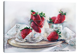 Canvas print  Strawberries and lace - Maria Mishkareva