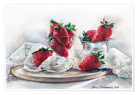 Premium poster Strawberries and lace