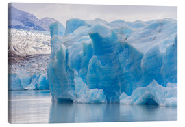 Canvas  Iceberg at Gray Glacier, Patagonia, Chile - Circumnavigation