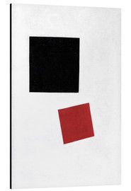 Aluminium print  Black Square and Red Square - Kasimir Sewerinowitsch  Malewitsch