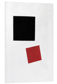 Foam board print  Black Square and Red Square - Kasimir Sewerinowitsch  Malewitsch