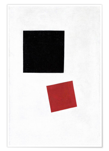 Premium poster Black Square and Red Square