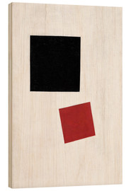 Wood print  Black Square and Red Square - Kasimir Sewerinowitsch  Malewitsch