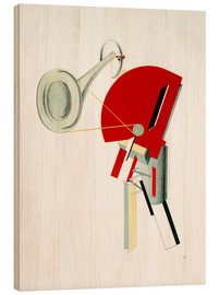 Wood print  announcer - El Lissitzky