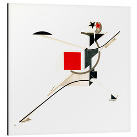 Aluminium print  The new man - El Lissitzky