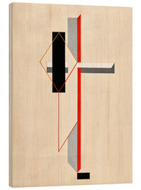 Wood print  Proun composition - El Lissitzky