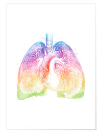 Poster  Lungs - Mod Pop Deco