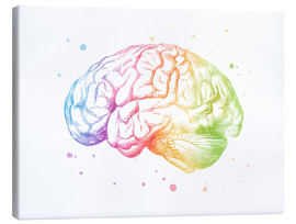 Canvas  Rainbow brain - Mod Pop Deco