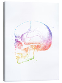 Canvas  Rainbow Skull - Mod Pop Deco