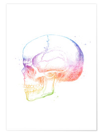 Poster  Rainbow Skull - Mod Pop Deco