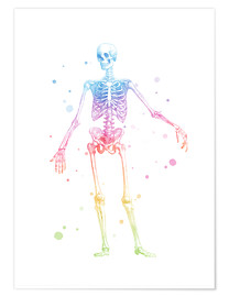 Poster  Rainbow skeleton - Mod Pop Deco