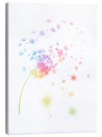 Canvas  Rainbow dandelions - Mod Pop Deco