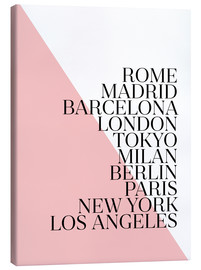 Canvas print  Metropolises Pink - Mod Pop Deco