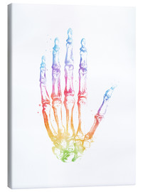 Canvas print  Rainbow hand bones - Mod Pop Deco