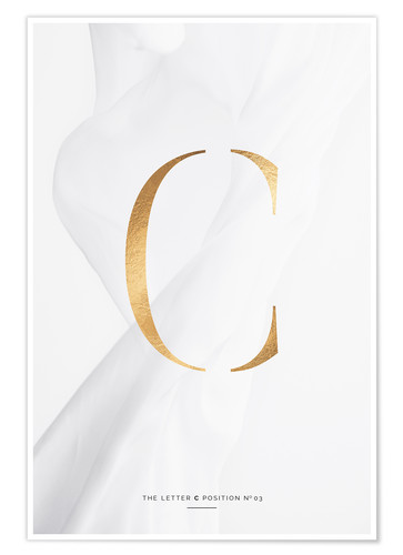 Premium poster GOLD LETTER COLLECTION C