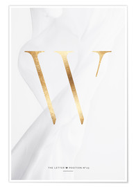 Premium poster GOLD LETTER COLLECTION W