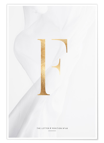 Premium poster GOLD LETTER COLLECTION F