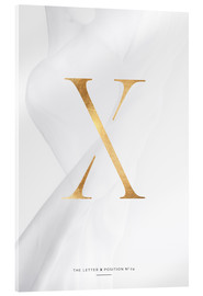 Acrylic print  GOLD LETTER COLLECTION X - Stephanie Wünsche