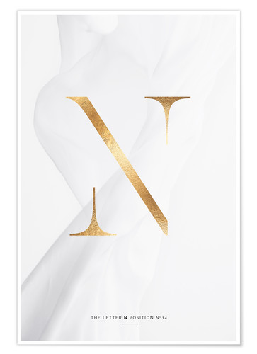Premium poster GOLD LETTER COLLECTION N