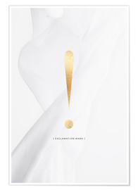 Premium poster EXCLAMATION MARK GOLD LETTER COLLECTION