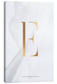 Canvas print  GOLD LETTER COLLECTION E - Stephanie Wünsche