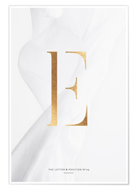 Premium poster GOLD LETTER COLLECTION E