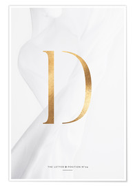 Premium poster  GOLD LETTER COLLECTION D - Stephanie Wünsche