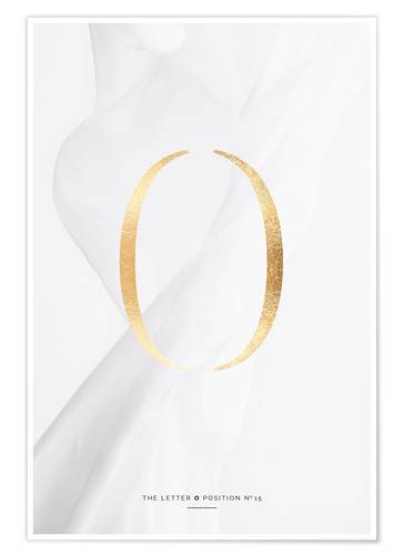 Premium poster GOLD LETTER COLLECTION O